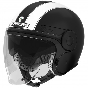 Casque Jet Caberg Uptown Legend Matt Black White