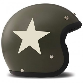 Casque Jet Dmd Vintage Star Green