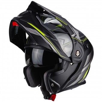 Casque Klapp Scorpion ADX-1 Anima Matt Black Neon Yellow