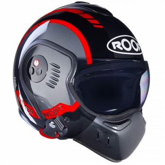 Casque Klapp Roof Boxer V8 LP20 Black Metal Red