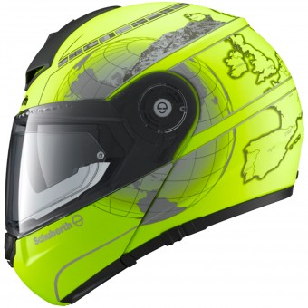 Casque Klapp Schuberth C3 Pro Europe Yellow Fluo