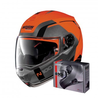 Casque Klapp Nolan N100 5 Consistency N-Com Led Flat Orange 27