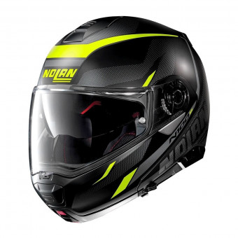 Casque Klapp Nolan N100 5 Lumiere N-Com Flat Black Yellow 37