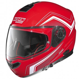 Casque Klapp Nolan N104 Absolute Como N-Com Corsa Red 46