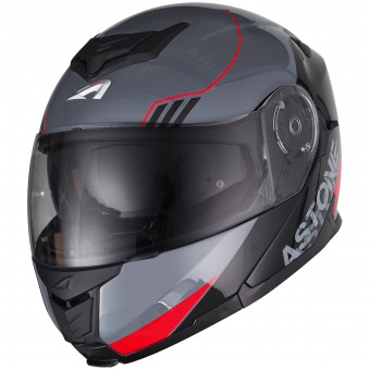 Casque Klapp Astone RT 1200 Upline Red Grey
