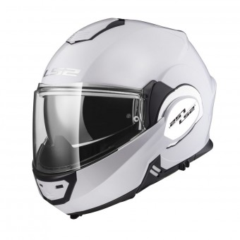 Casque Klapp LS2 Valiant Solid Gloss White FF399