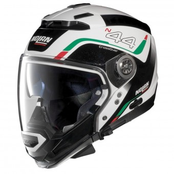 Casque System Nolan N44 Evo Viewpoint N-Com Metal White Italy 53
