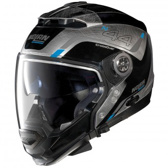 Casque System Nolan N44 Evo Viewpoint N-Com Scratched Chrome 54