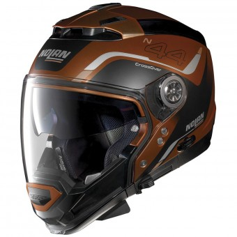 Casque System Nolan N44 Evo Viewpoint N-Com Scratched Flat Copper 55