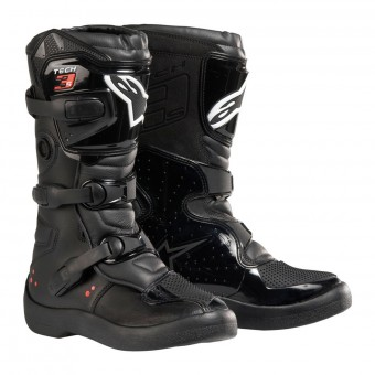 Cross Stiefel Alpinestars Tech 3S Kids Black White Red Fluo
