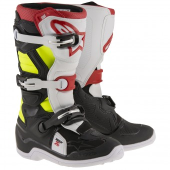 Cross Stiefel Alpinestars TECH 7 S Black Red Yellow Fluo - Kinder
