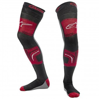 Cross Socken Alpinestars Knee Brace Socks Red Black