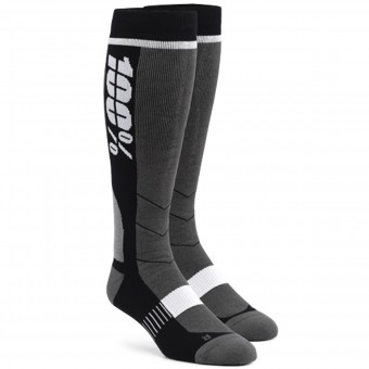 Cross Socken 100% Socks Hi Side Grey Black