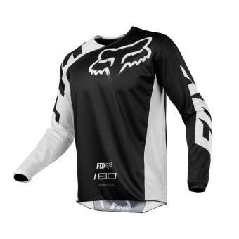 Cross Trikot FOX 180 Race Black White 001