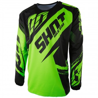 Cross Trikot SHOT Devo Fast Neon Green - Kinder