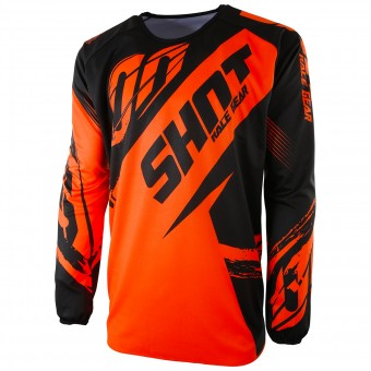Cross Trikot SHOT Devo Fast Neon Orange - Kinder