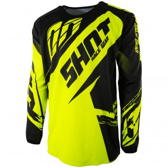 Cross Trikot SHOT Devo Fast Neon Yellow - Kinder