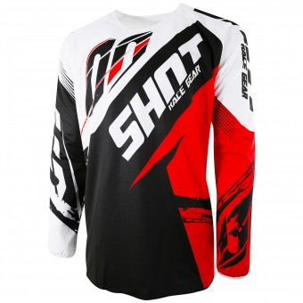 Cross Trikot SHOT Devo Fast Red - Kinder