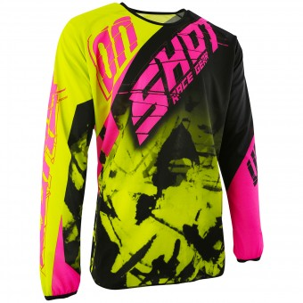 Cross Trikot SHOT Devo Squad Lime Neon Pink