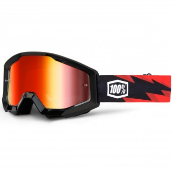 Crossbrille 100% Strata Slash Mirror Red Lens
