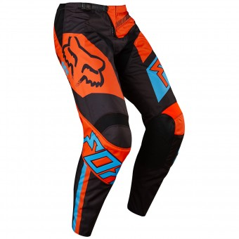 Cross Hose FOX 180 Falcon Black Orange Pant 016- Kinder
