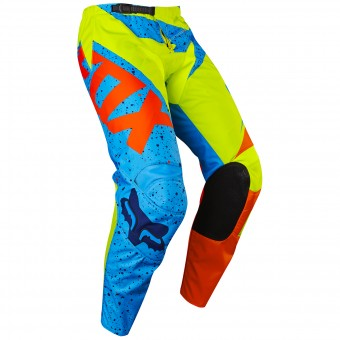 Cross Hose FOX 180 Nirv Yellow Blue Pant 586- Kinder