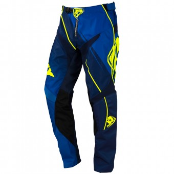 Cross Hose Kenny Track Blue Neon Yellow Kinderhose