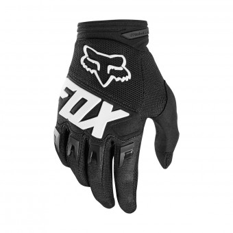 Cross Handschuhe FOX Dirtpaw Race Black White 001