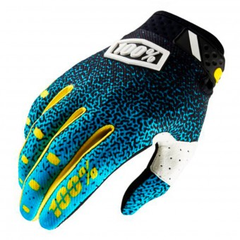 Cross Handschuhe 100% Ridefit Cyan Black