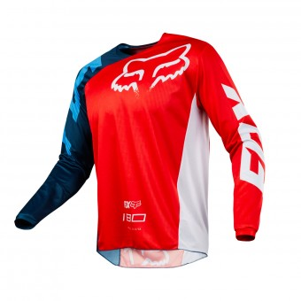 Cross Trikot FOX 180 Race Red White 003