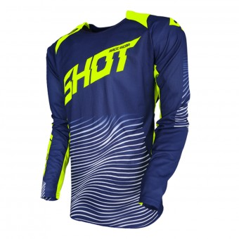 Cross Trikot SHOT Aerolite Optica Blue Neon Yellow