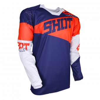 Cross Trikot SHOT Contact Infinite Blue Neon Orange