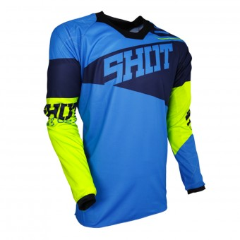Cross Trikot SHOT Contact Infinite Blue Neon Yellow