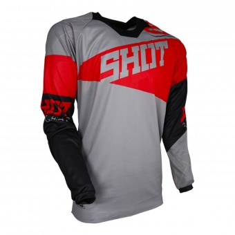 Cross Trikot SHOT Contact Infinite Grey Red
