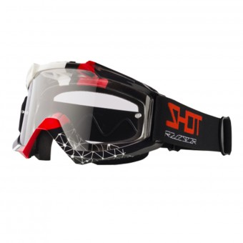 Crossbrille SHOT Assault Beyound Black Red