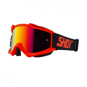 Crossbrille SHOT Iris Neon Orange Matt Iridium Red