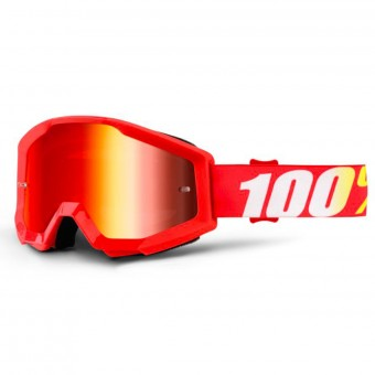 Crossbrille 100% Strata Furnace Mirror Red Lens