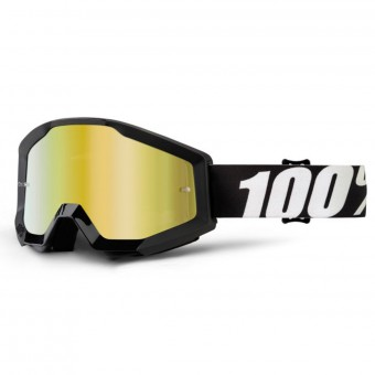 Crossbrille 100% Strata Outlaw Mirror Gold Lens