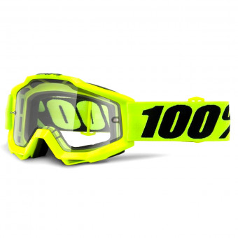 Crossbrille 100% Accuri Enduro Fluo Yellow Clear Lens