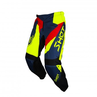 Cross Hose SHOT Devo Alert Blue Red Neon Yellow Pant
