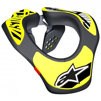 Nackenprotektoren Alpinestars Youth Neck Support Black Yellow Fluo
