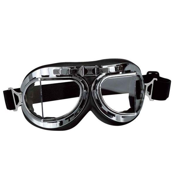 Motorradbrillen und Sichtschutzm Stormer Aviateur T08 Chrome