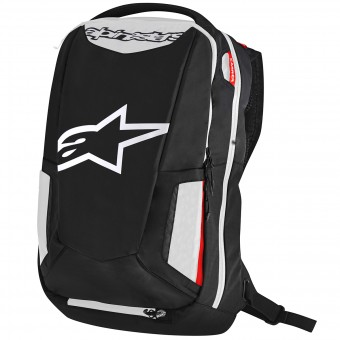 Motorrad-Rucksack Alpinestars City Hunter Backpack Black White Red