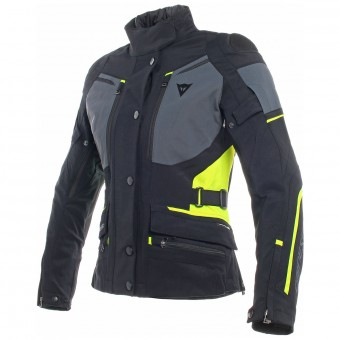 Motorradweste Dainese Carve Master 2 Lady Gore-Tex Black Ebony Fluo Yellow