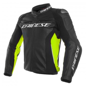 Motorradjacke Dainese Racing 3 Black Yellow Fluo