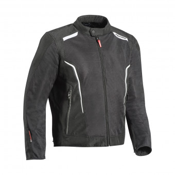 Motorradjacke Ixon Cool Air Black White
