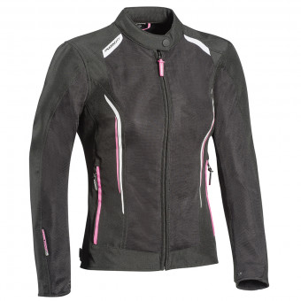 Motorradjacke Ixon Cool Air Lady Black White Pink