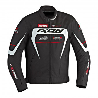 Motorradjacke Ixon Matrix Evo Black White Red