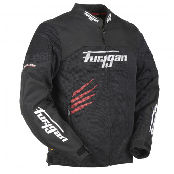 Motorradjacke Furygan Rock Vented Black Red
