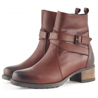 Motorradschuhe Overlap Legacy Lady Brown CE